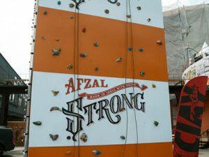 afzal strong festival wall climbing