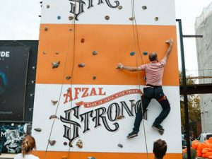 afzal strong festival wall climbing adventure