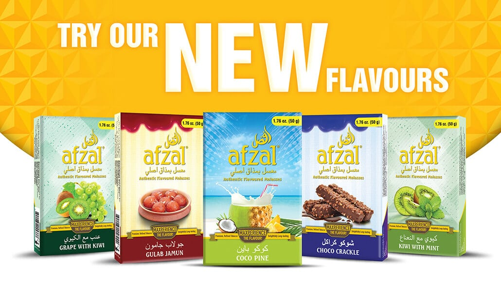Afzal Website Banner various flavored molasses